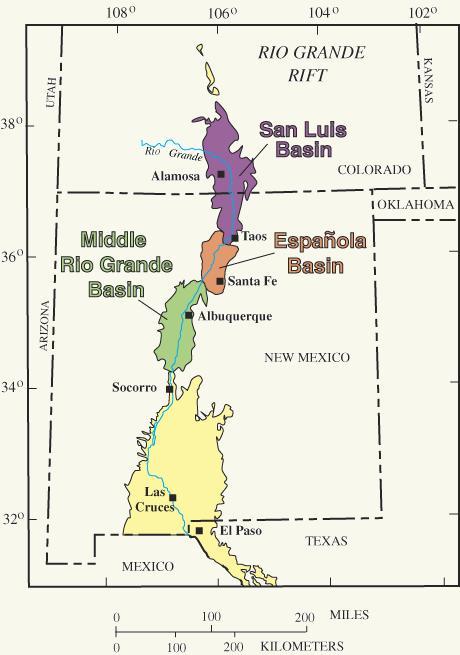Rio Grande Rift FAQ - Us map rio grande